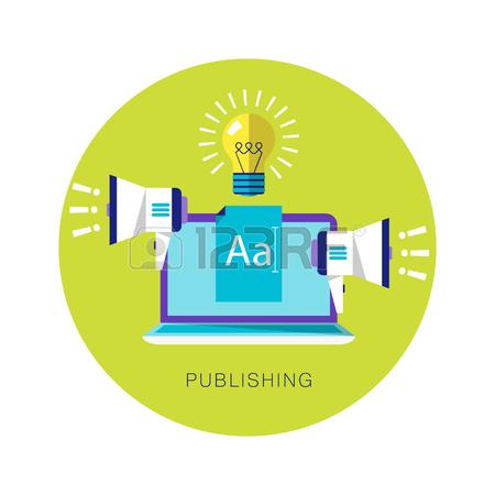 450x450 Contrast Flat Illustration. Publishing, Blogging, Proclamation