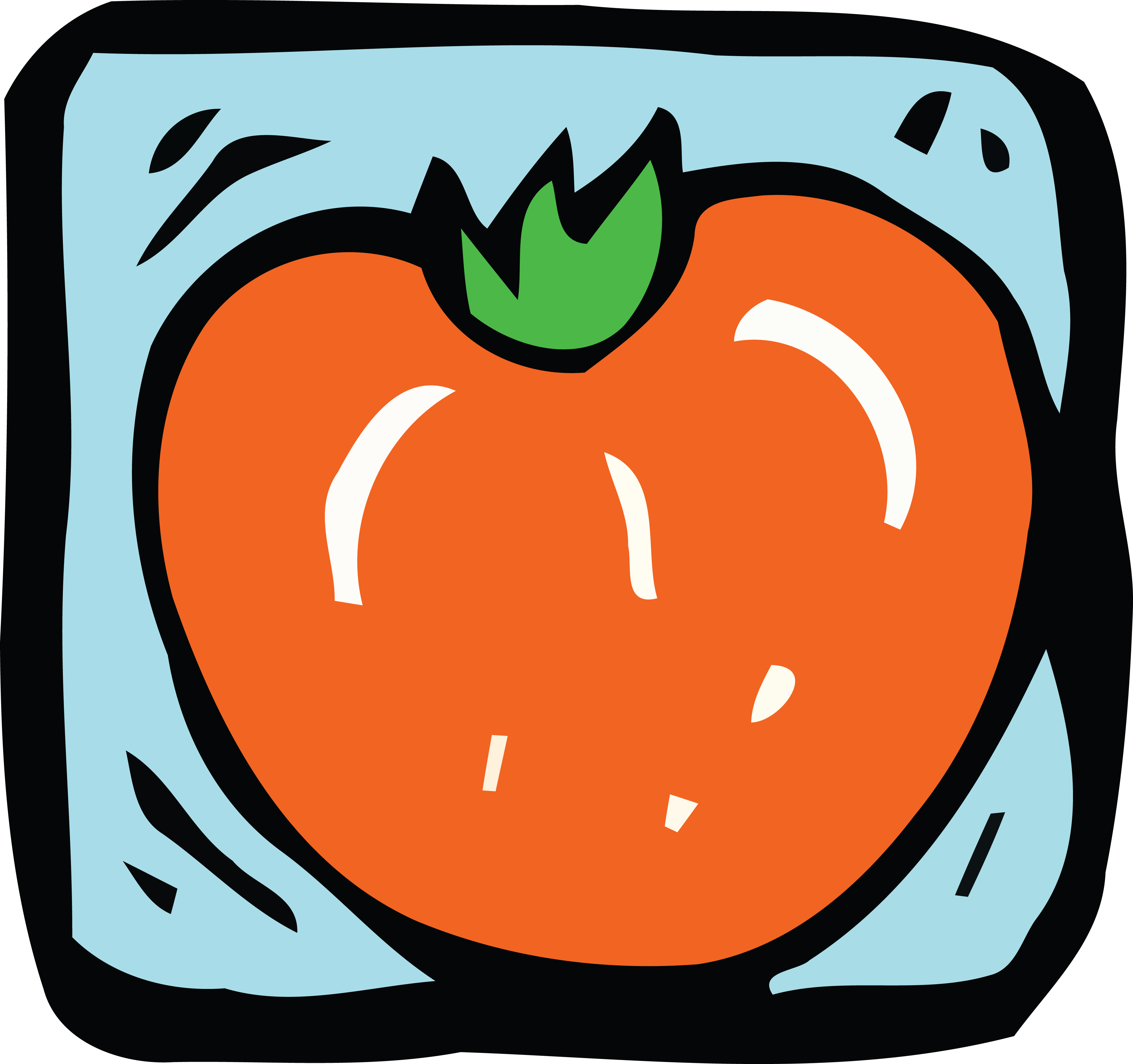 4000x3755 Clipart Of A Tomato