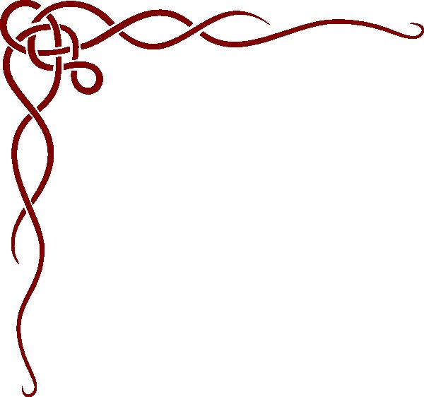 600x562 Burgundy Red Border Clip Art