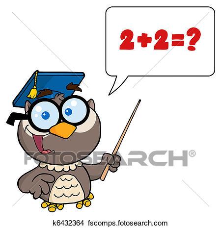 450x465 Clipart Of Professor Owl Cartoon Character K6432364