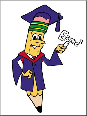 304x404 Clip Art Cartoon Professor Pencil Color I Abcteach