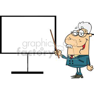 300x300 Royalty Free A Physicist Professor Shows A Pointer On A Board
