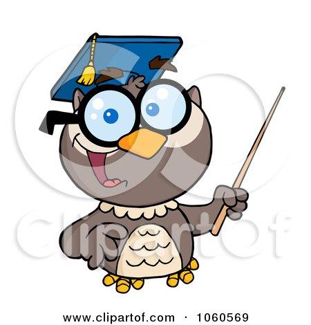 450x470 Royalty Free Vector Clip Art Illustration Of A Professor Owl