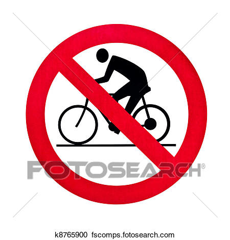 450x470 Stock Illustrations Of Prohibition Bicycle Warning Sign Isolated