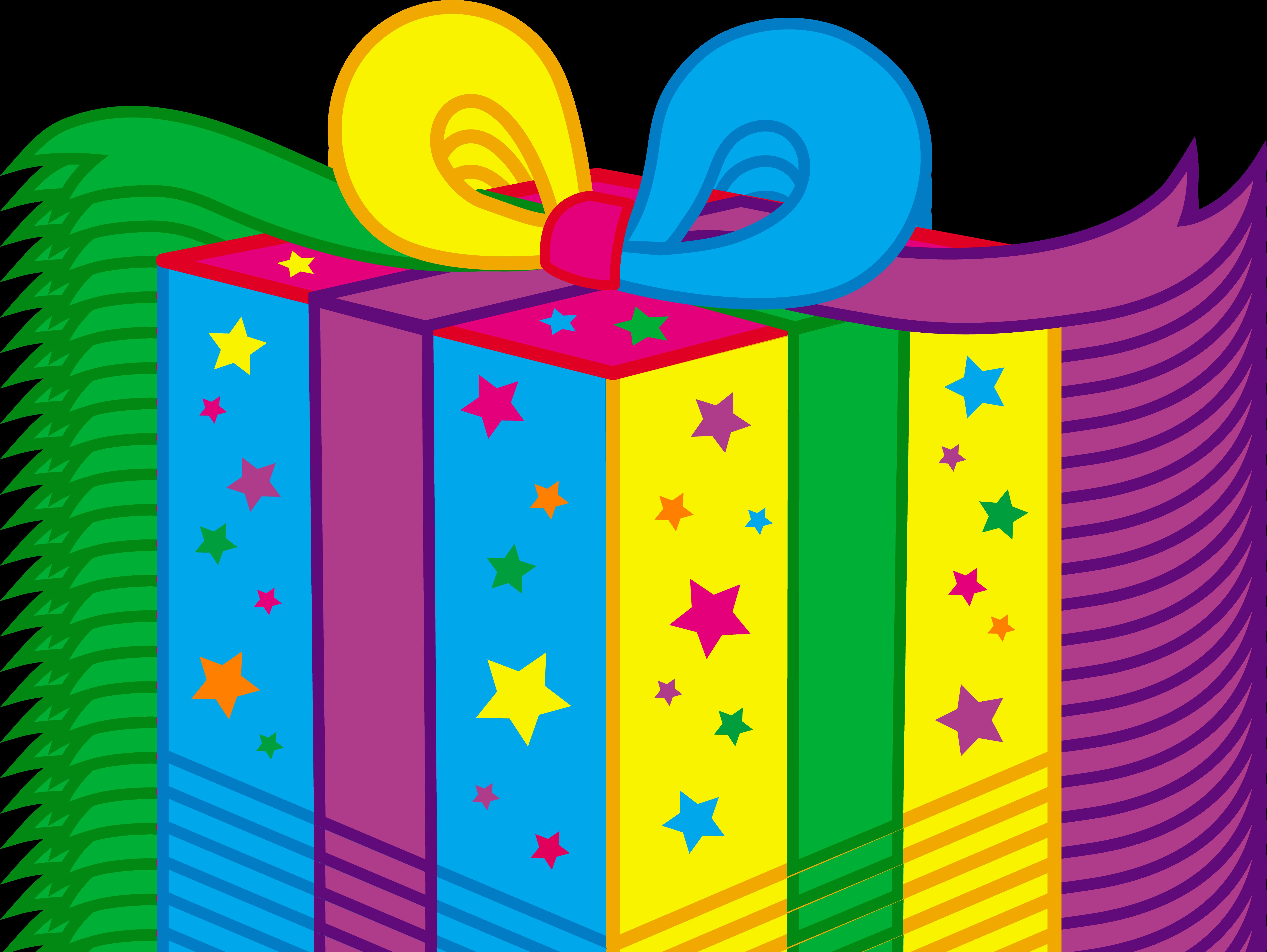 6831x5132 Birthday Present Clip Art