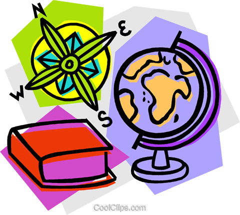 480x430 School Project, Geography Royalty Free Vector Clip Art
