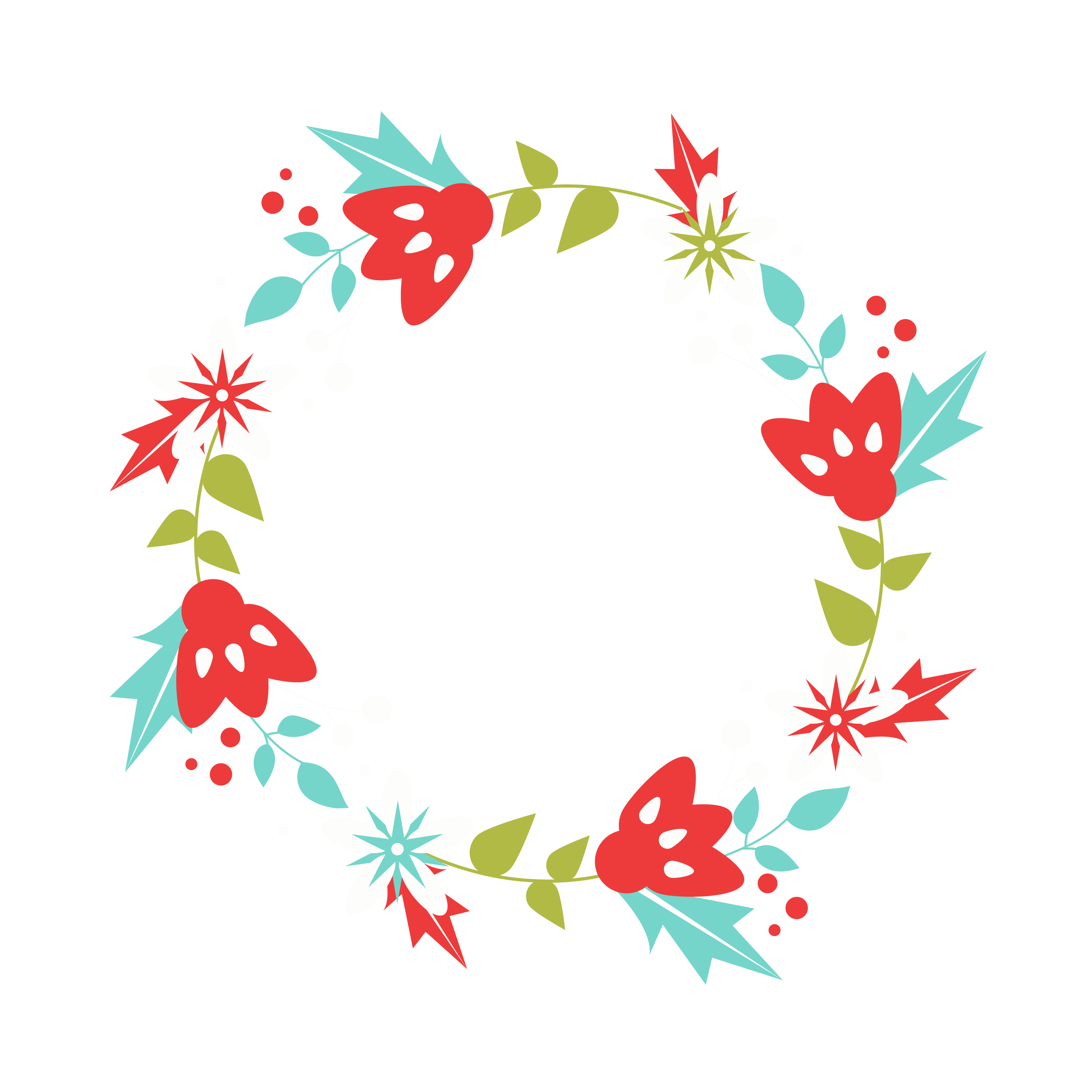 3600x3600 Free Christmas Wreath Clip Art!