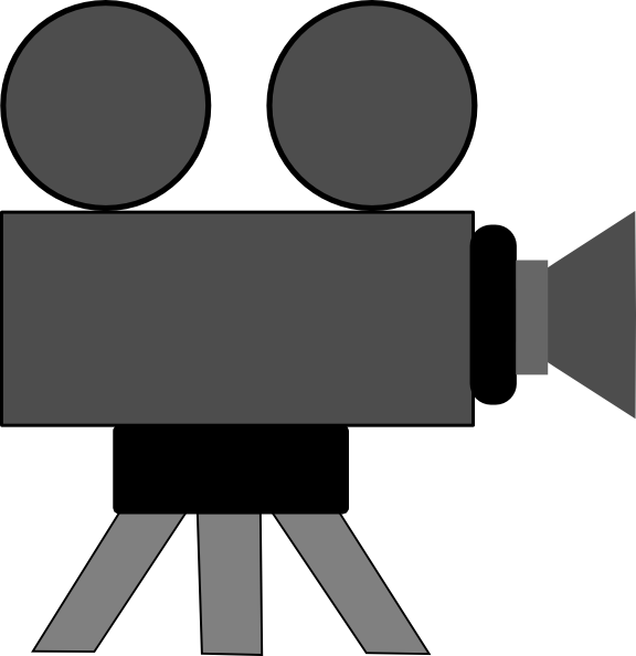 576x594 Movie Camera Clip Art