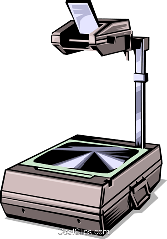 336x480 Overhead Projector Royalty Free Vector Clip Art Illustration