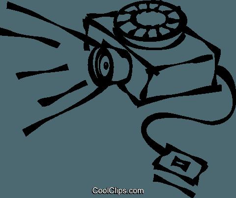 480x403 Slide Projector Royalty Free Vector Clip Art Illustration