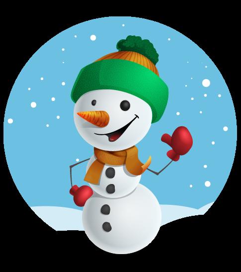 485x547 Christmas Snowman Clipart