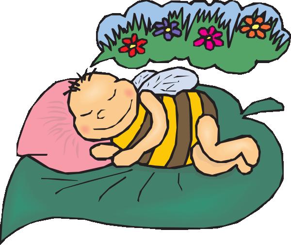 600x505 Free Dreaming Cartoon Bee Clip Art