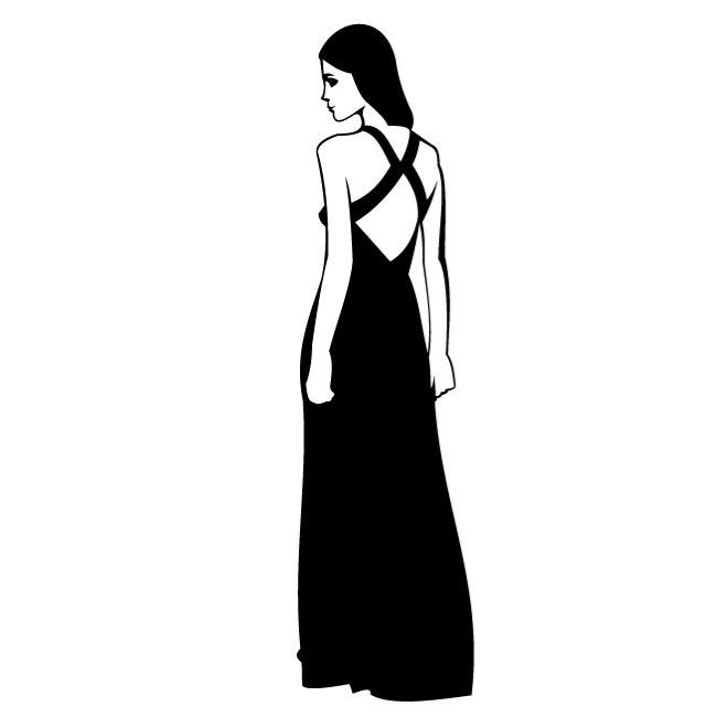 660x660 Gown Clipart Lady Dress