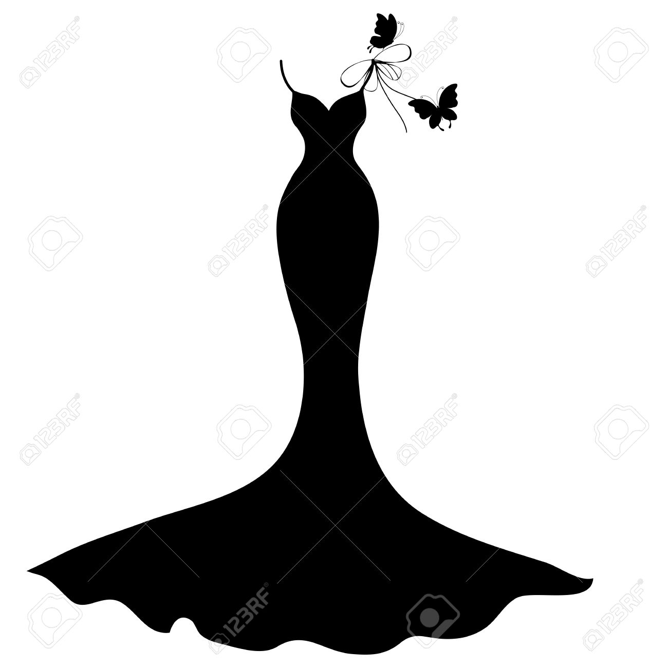 Prom Dress Clipart   Free download best Prom Dress Clipart on ...