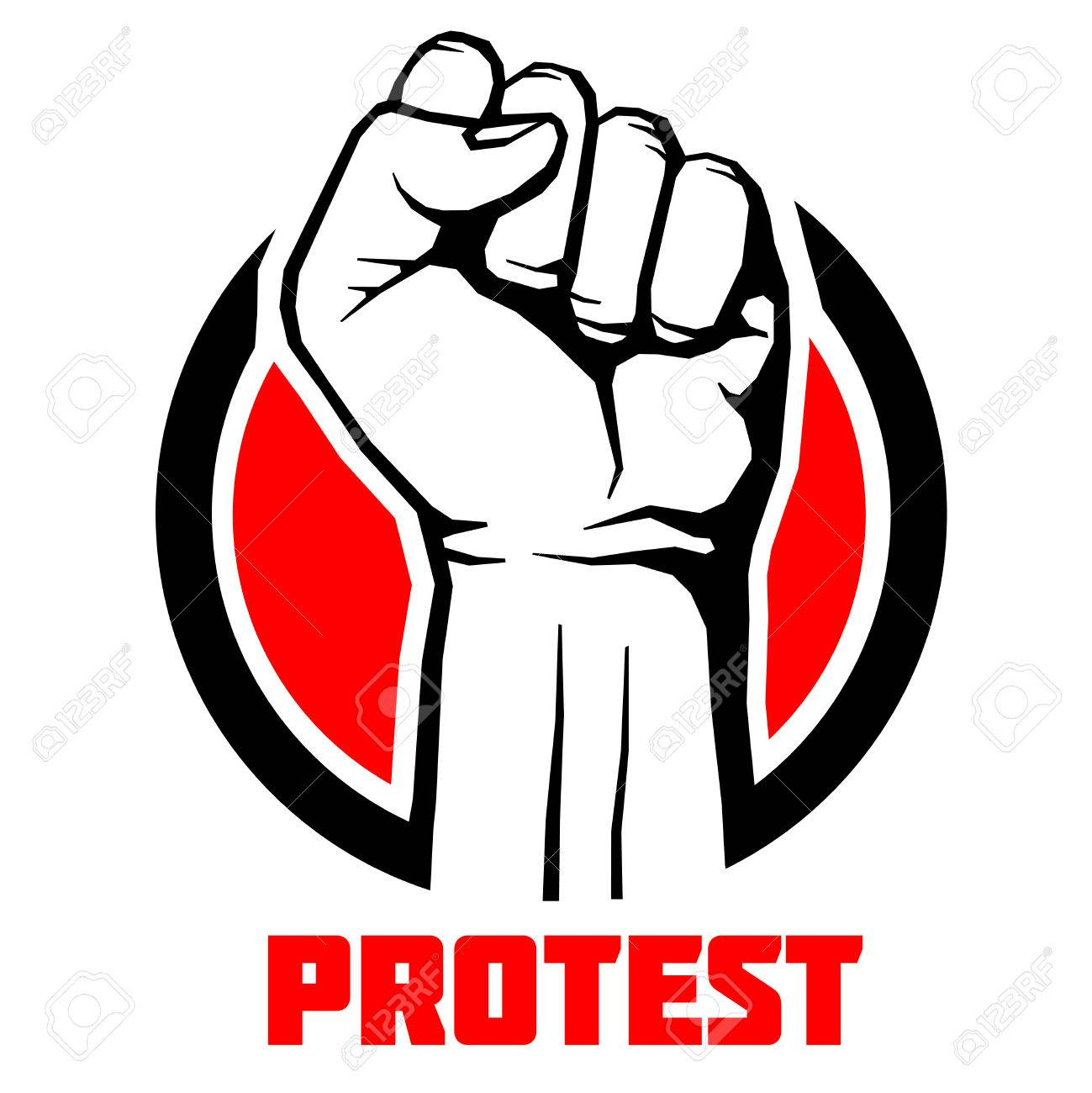 1299x1300 Protest, Rebel Vector Revolution Art Poster Background. Symbol