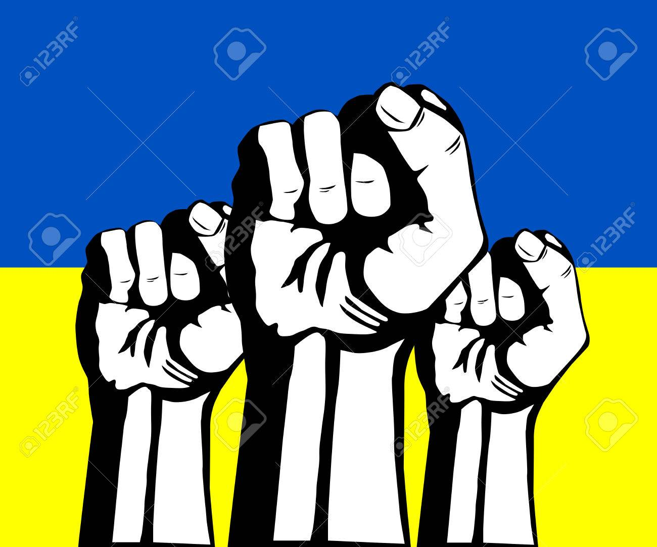 1300x1083 Protest In Ukraine. Clenched Fist Held In Protest. Royalty Free