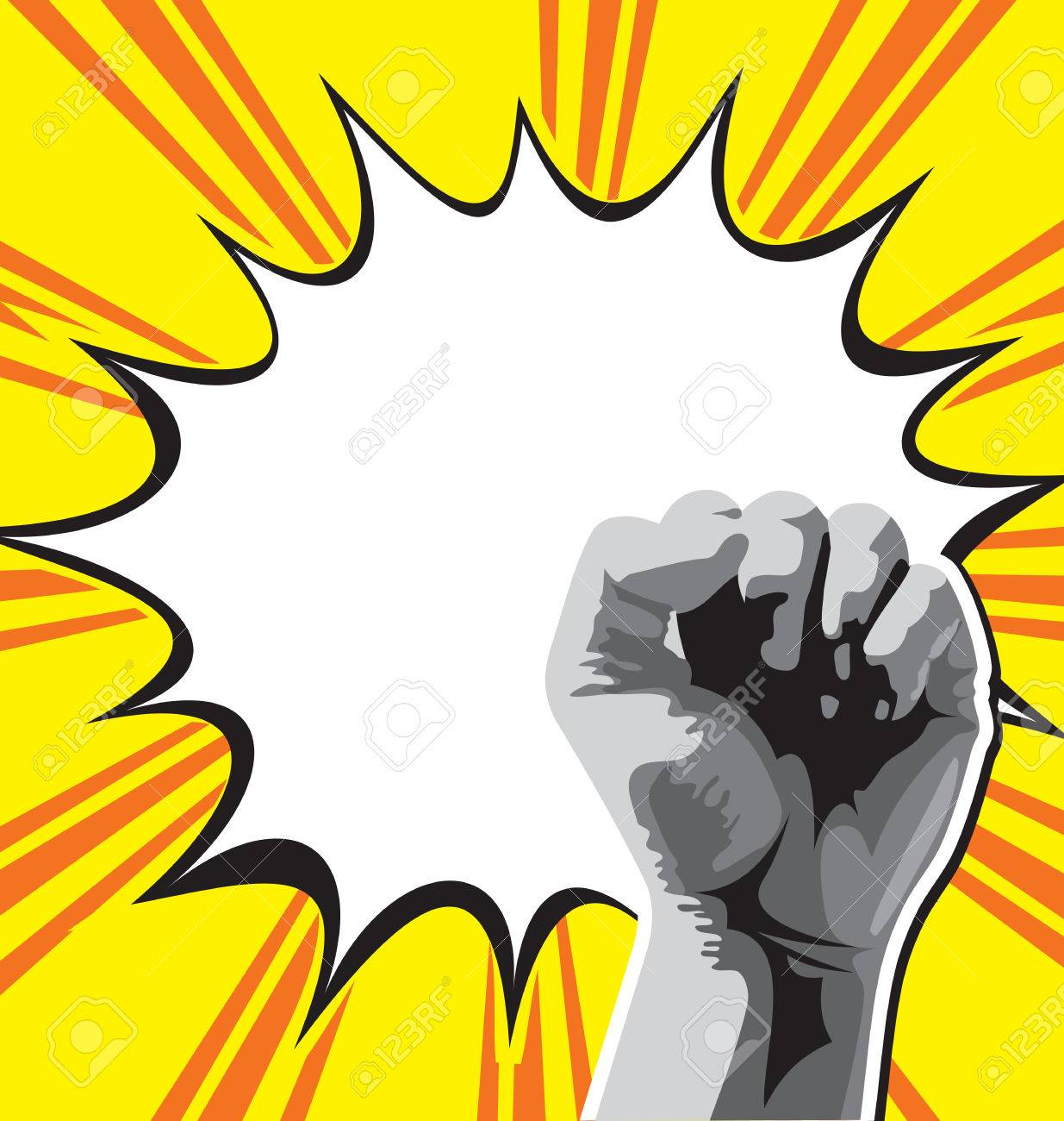 1235x1300 Vector Illustration Of Fist Held High In Protest Royalty Free