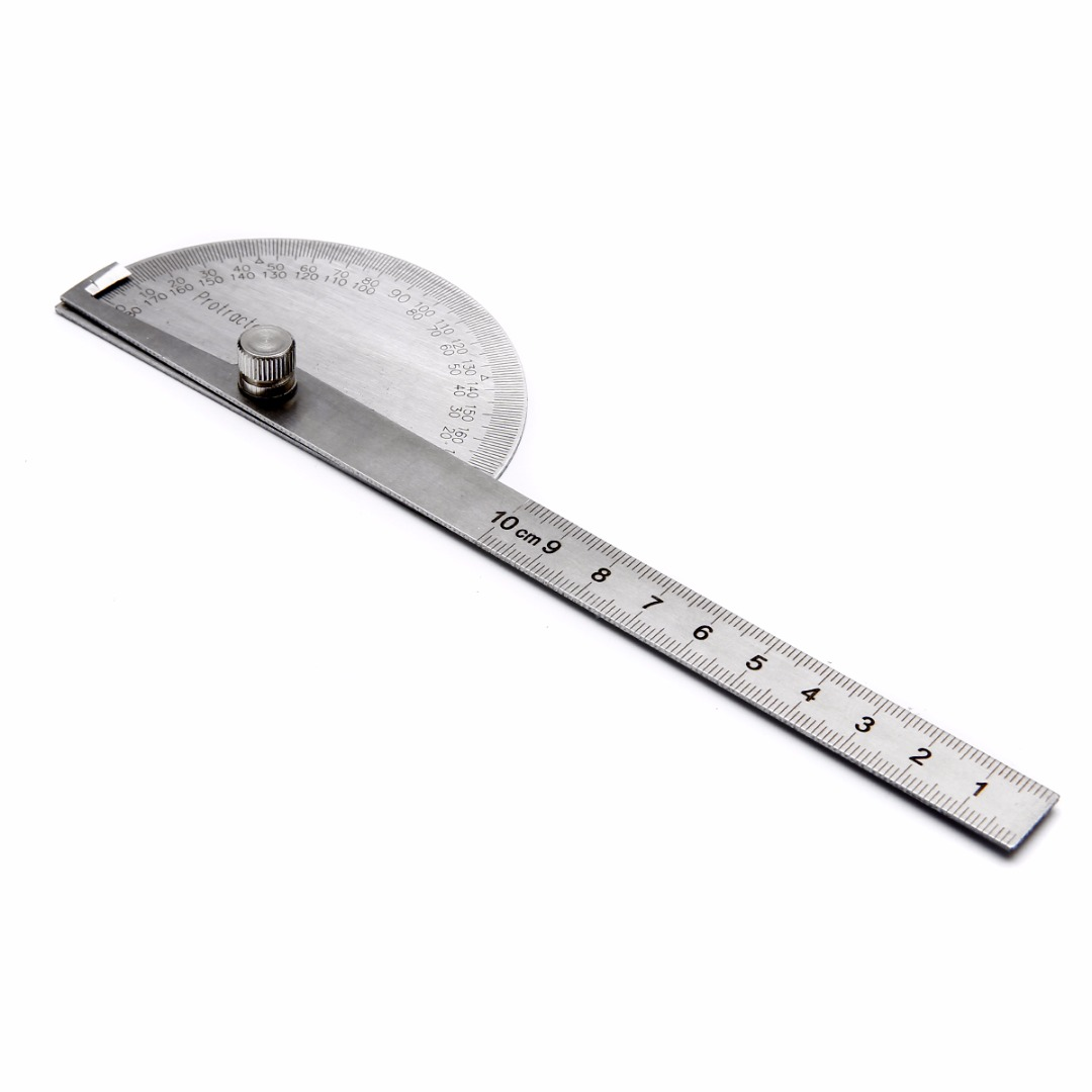 1080x1080 Stainless Steel 180 Degree Protractor Angle Finder Arm Measuring