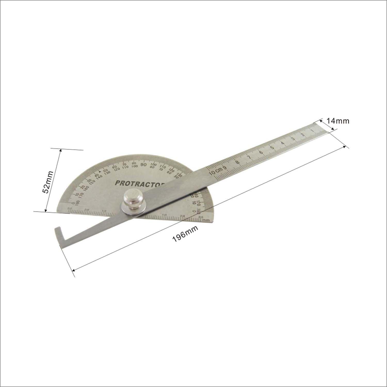 1500x1500 401145 Engineering Stainless Steel Welding Protractor Rule 180