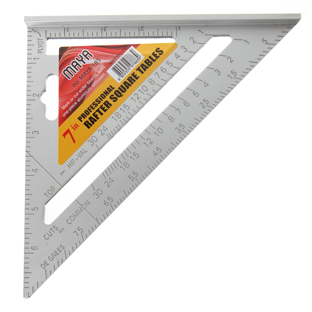 1000x1000 7 Square Carpenter's Measuring Ruler Layout Tool Triangle Angle