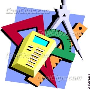 302x300 Protractor, Compass, Calculator Vector Clip Art