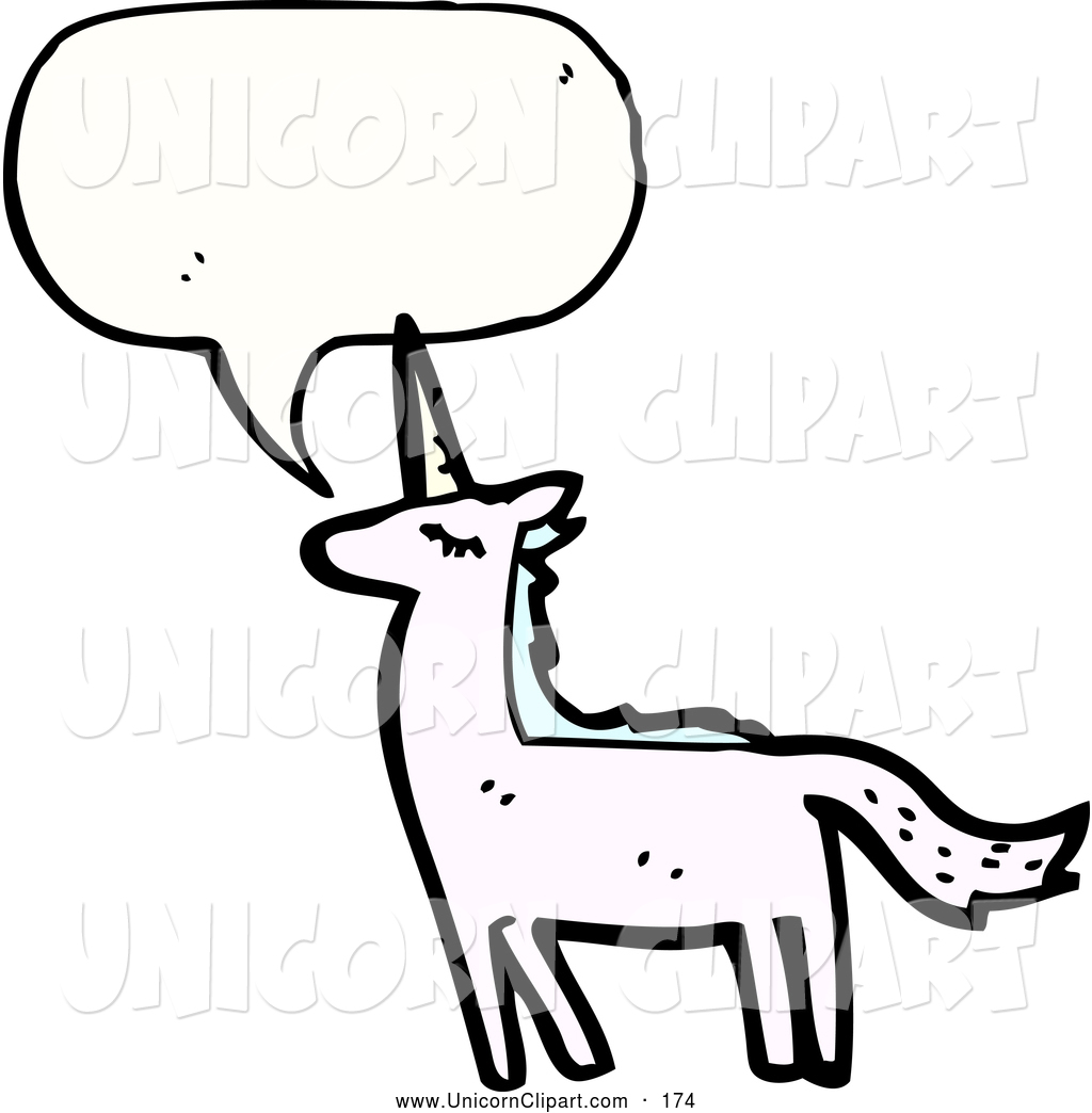 1024x1044 Fantasy Vector Clip Art of a Reserved, Calm, Proud Unicorn with a