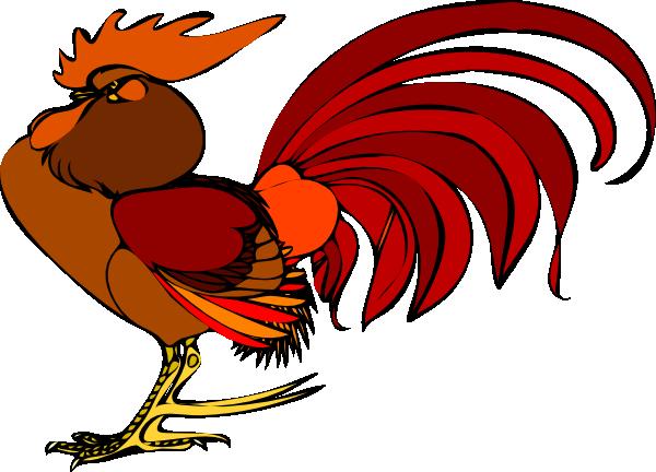 600x432 Proud Rooster Clip Art
