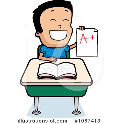 400x420 School Boy Clipart