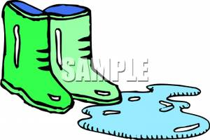 300x200 Art Image Green Boots By A Puddle