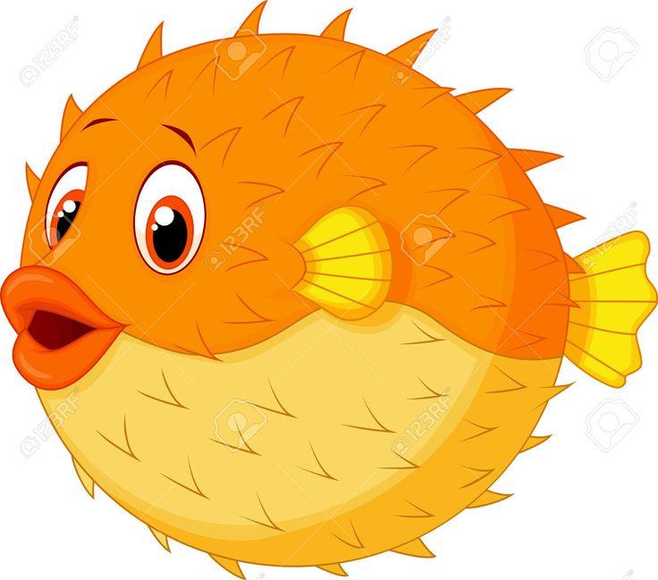 736x649 Creature Clipart Puffer Fish