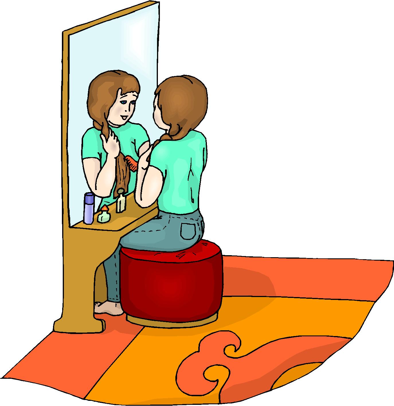 1375x1416 Combing Hair Clipart