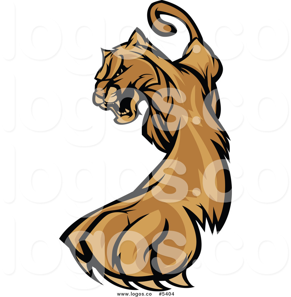 1024x1044 Royalty Free Vector Of A Logo Of A Clawing Puma By Chromaco