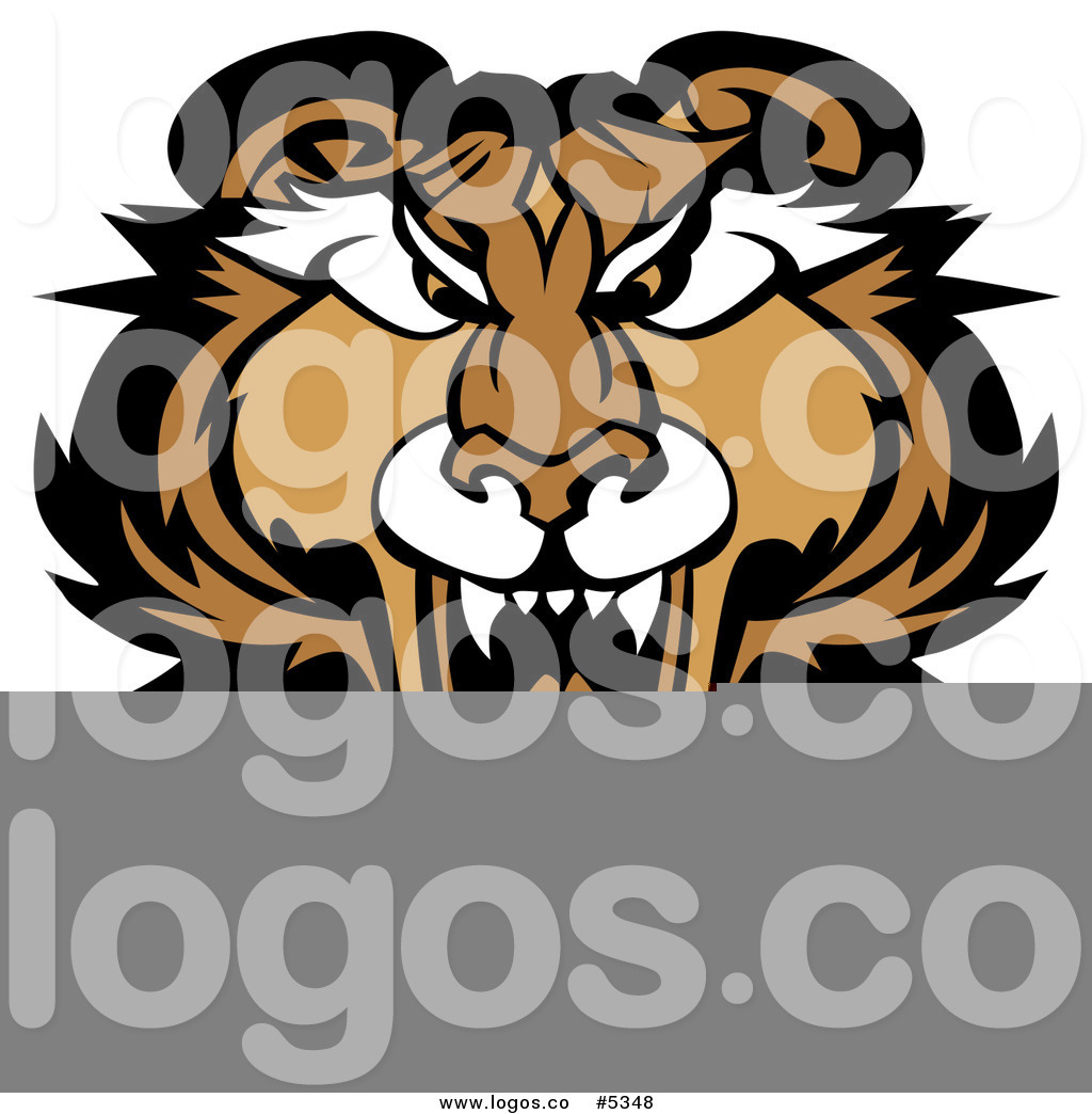 1024x1044 Royalty Free Vector Of A Logo Of A Roaring Puma Cougar By Chromaco