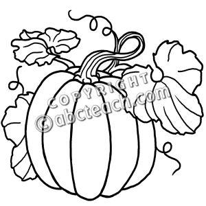 300x300 Fall Pumpkin Clip Art Black And White