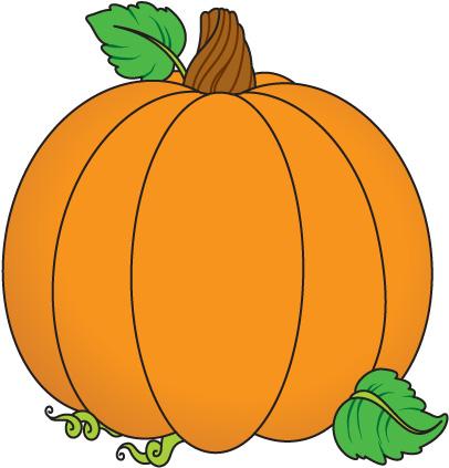 406x423 Pumpkin Leaves Clipart