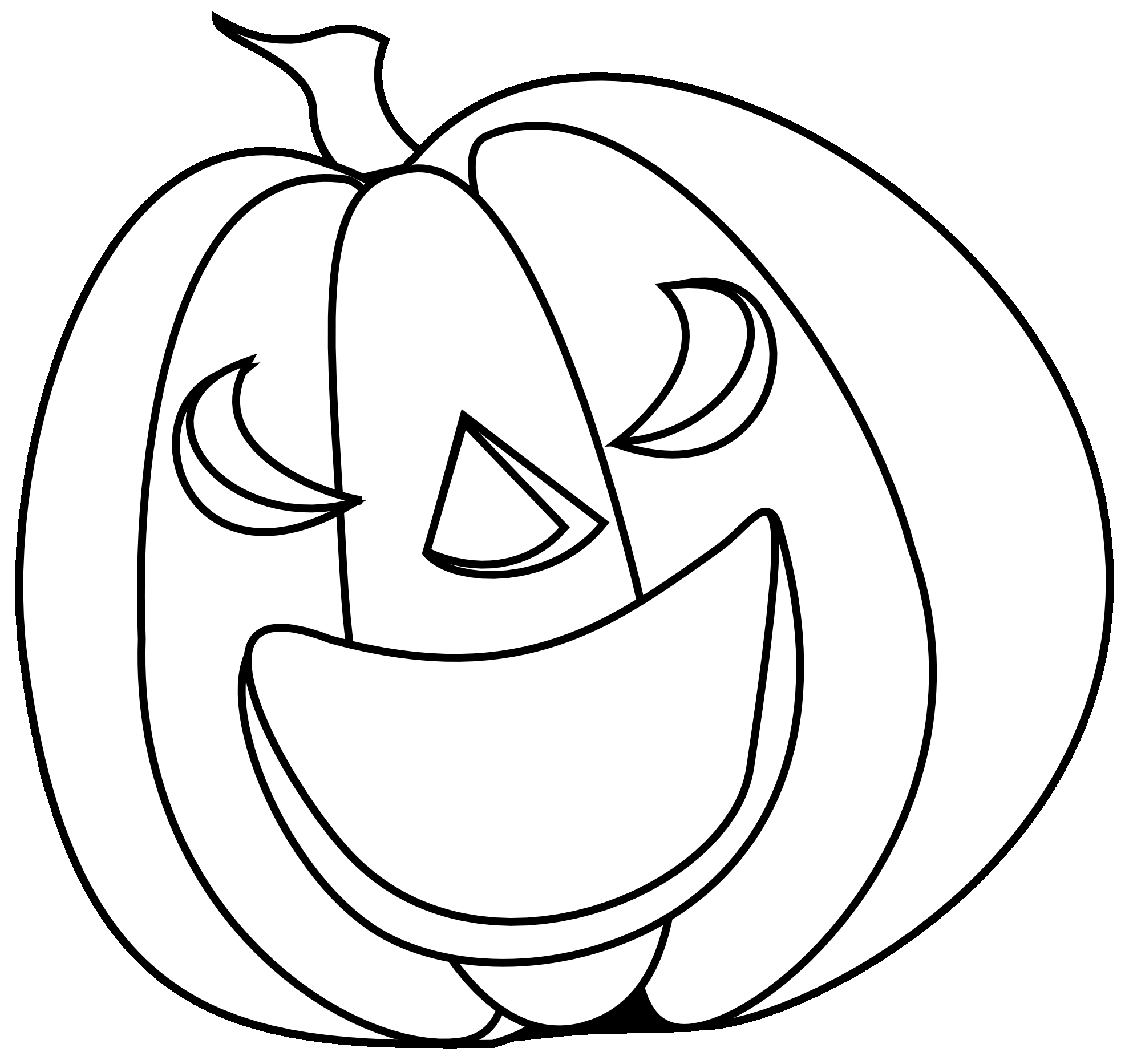 Pumpkin Black And White Clipart
