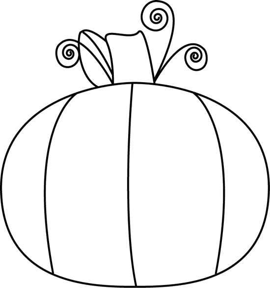 550x585 Black And White Pumpkin Clip Art