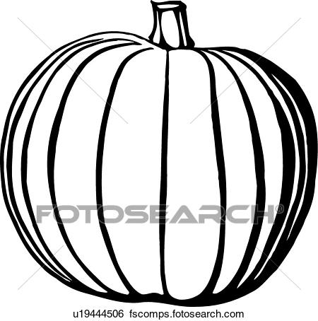 450x454 Clip Art Of Pumpkin U19444506