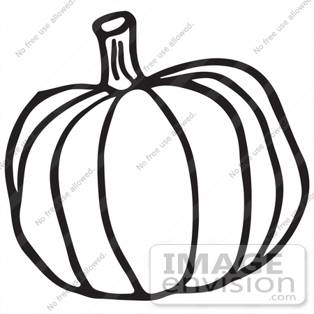 450x450 Clipart Of A Pumpkin In Black And White