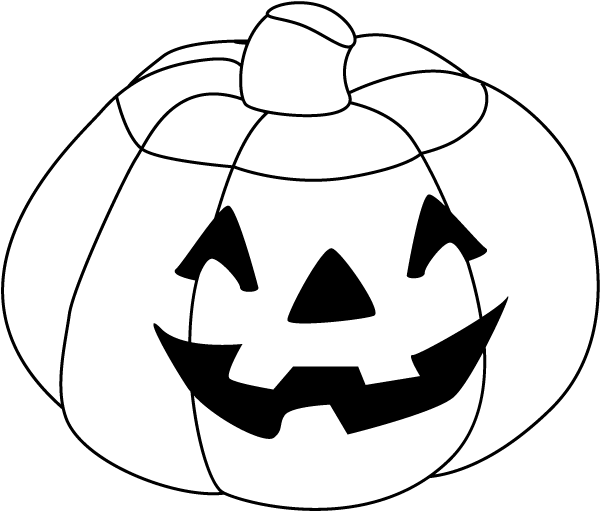 600x512 Halloween Pumpkin Clipart Black And White 4 Nice Clip Art