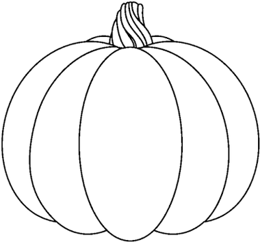 380x354 Pumpkin Clipart Black And White