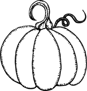 285x297 Pumpkin Outline Clip Art
