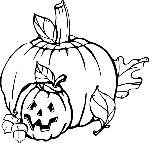 600x578 Pumpkins Black And White Clip Art Free Vector In Open Office