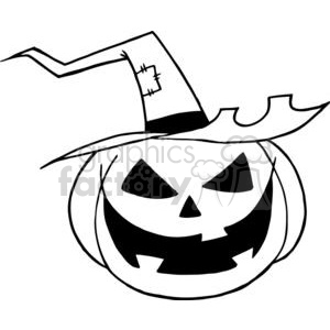 300x300 Royalty Free Cartoon Halloween Pumpkin 379339 Vector Clip Art