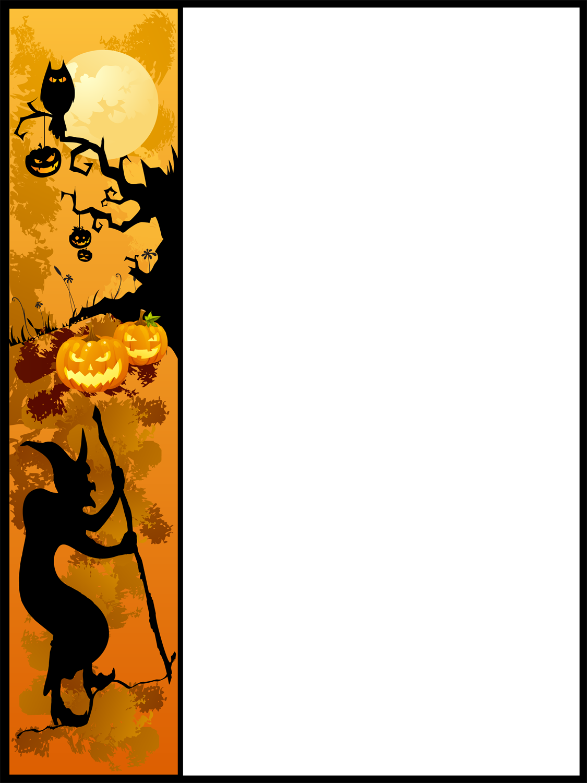 1125x1500 Halloween Pumpkin Border Clip Art Free Clipart