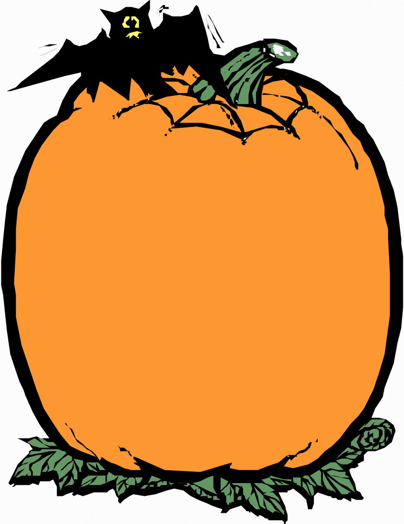 791x1024 Pumpkin border halloween border pumpkin clip art free 2 –