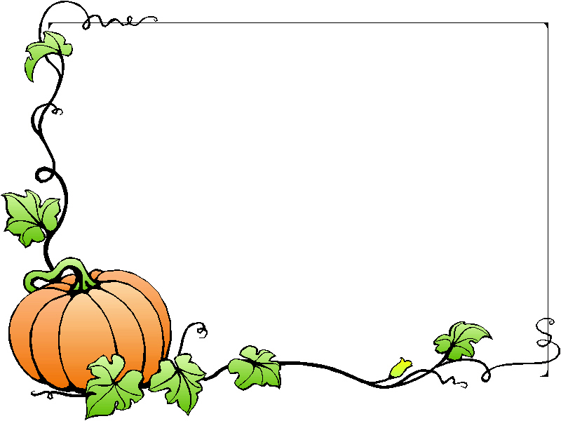 800x600 Fall Border Autumn Pumpkin Pinteres Cliparts