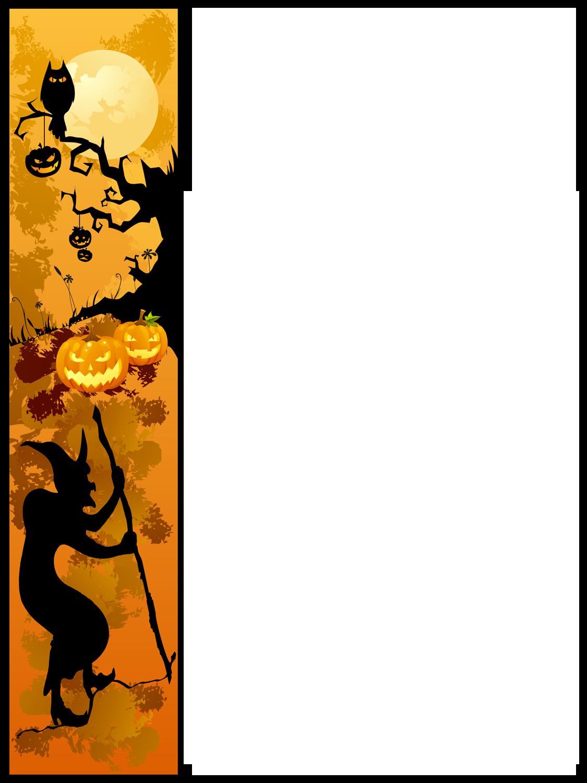 1125x1500 Halloween Border Pumpkin Clip Art