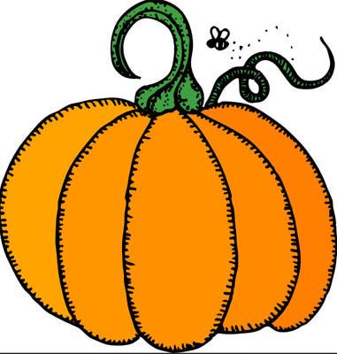 381x400 Pumpkin Border Clip Art