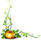 170x169 Pumpkin Vine Border Clipart